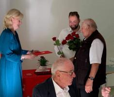 Horst Siebenlist wird für 50 Jahre SPD geehrt
